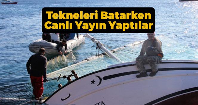 Tekneleri Batarken Canlı Yayın Yaptılar