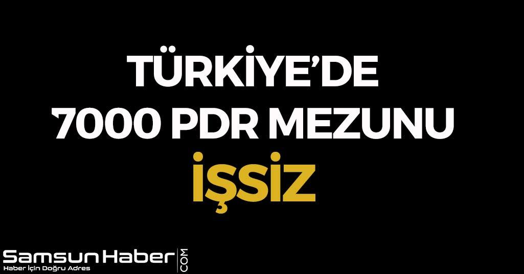 Türkiye'de 7000 PDR Mezunu İşsiz