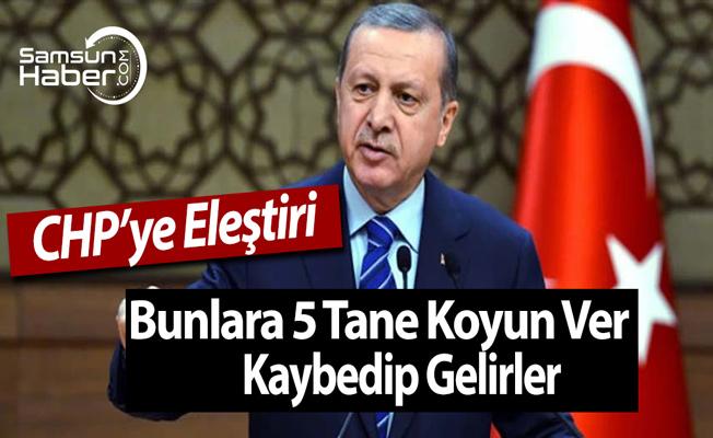 Erdoğan'dan CHP'ye Bunlara 5 Tane Koyun Ver, Kaybedip Gelirler Söylemi