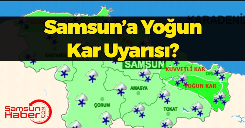 Samsun'a Yoğun Kar Uyarısı! Beklenen Kar Geldi