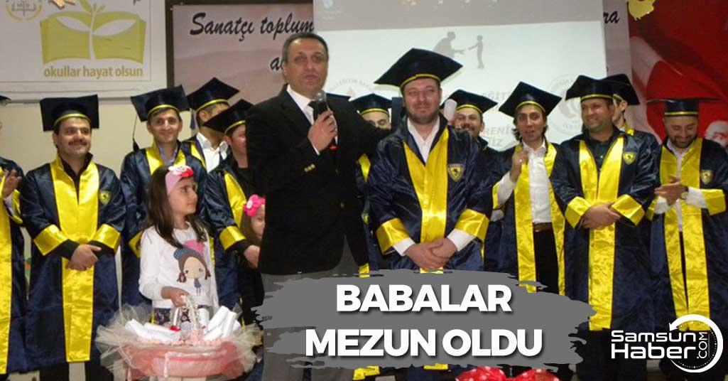 Samsun'da Babalar Mezun Oldu