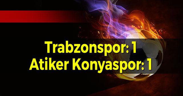 Trabzonspor 1 Puanla Ayrıldı