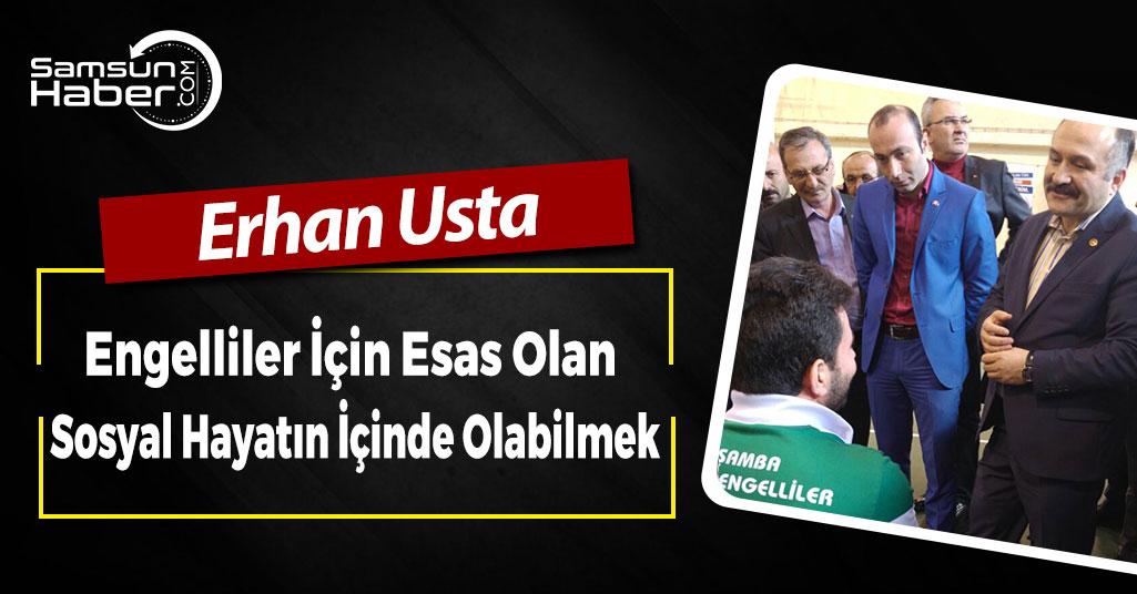 Erhan Usta, Çarşamba'da Engelliler Basketbol Müsabakasına Katıldı