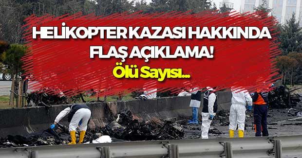 Helikopter Kazası Hakkında Flaş Açıklama!