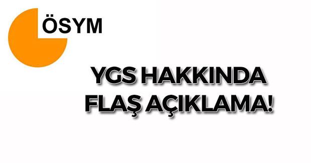 ÖSYM'den YGS Hakkında Flaş Açıklama!