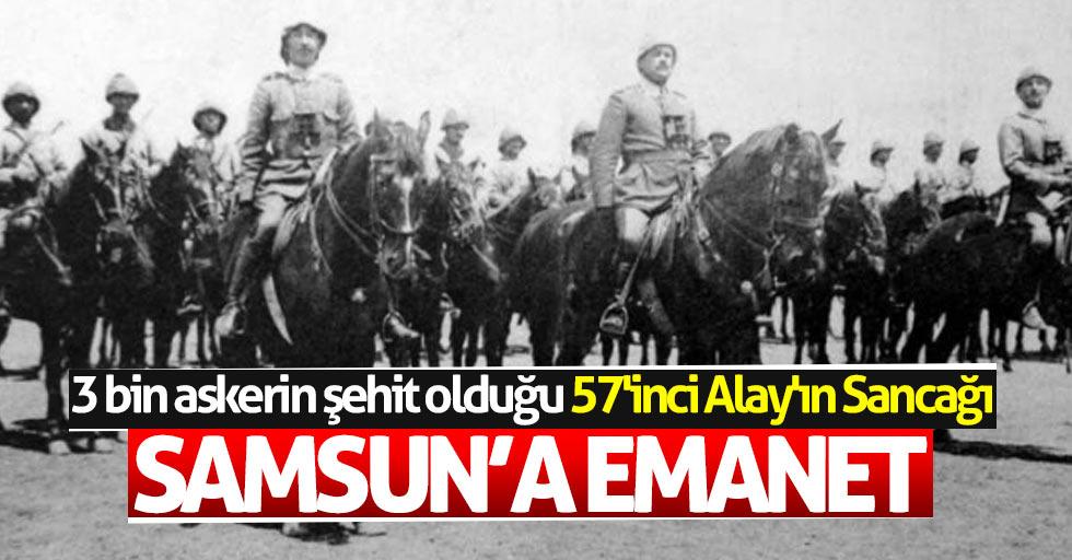 3 bin askerin şehit olduğu 57'inci Alay'ın Sancağı OMÜ'de