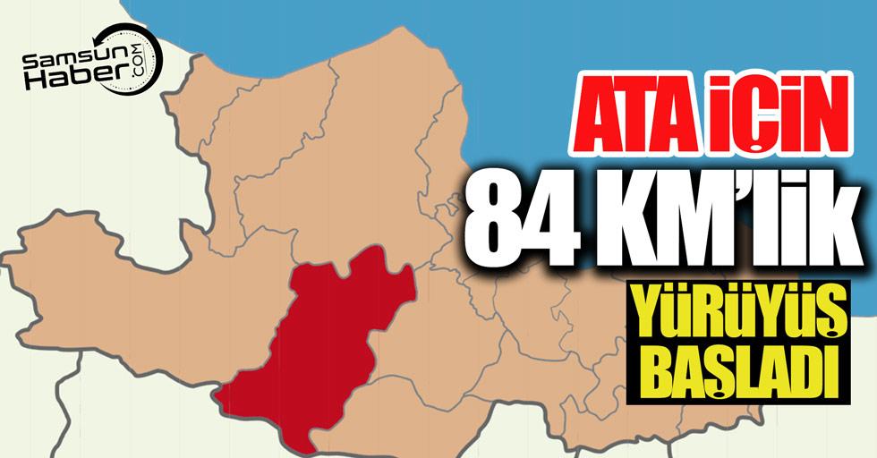 Atatürk için 84 KM'lik yürüyüş başladı