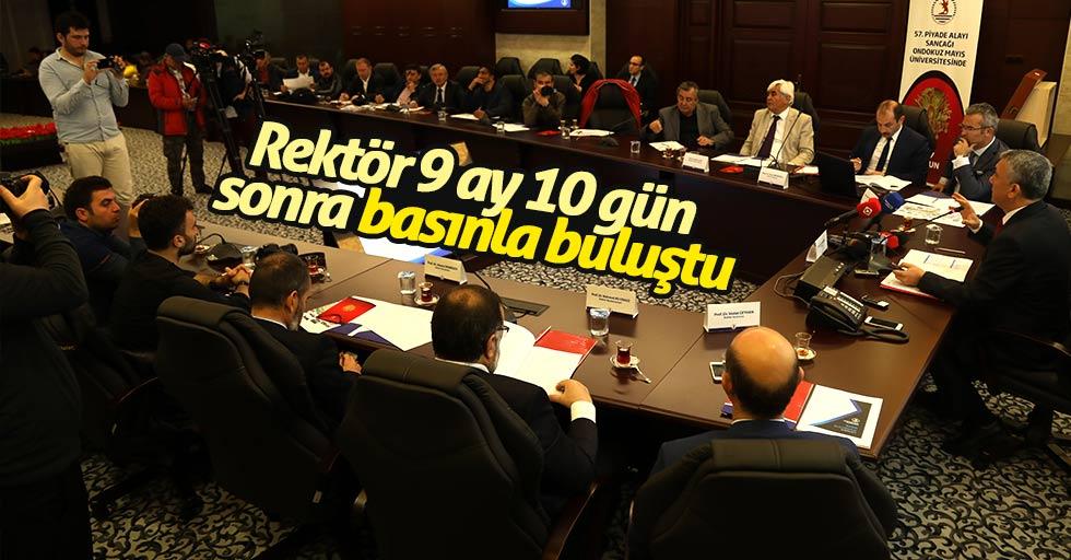 Rektör Bilgiç, 9 ay 10 gün sonra basınla buluştu