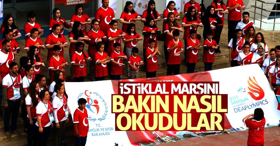 Samsun'da işaret diliyle İstiklal Marşı'nı okudular