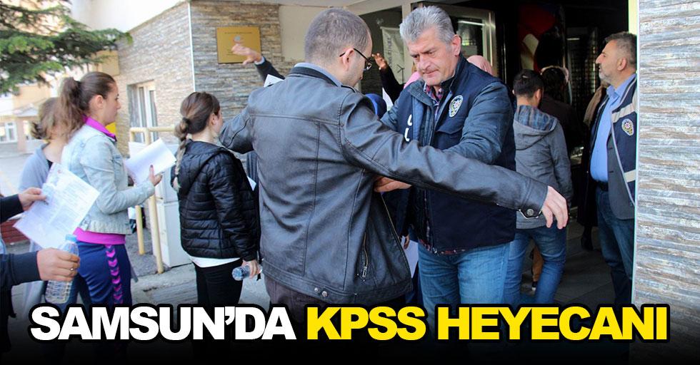 Samsun'da öğrenciler KPSS'de ter döktü