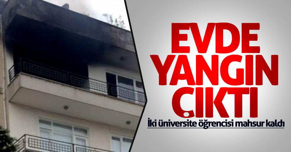 Samsun'da üniversite öğrencilerinin evinde yangın