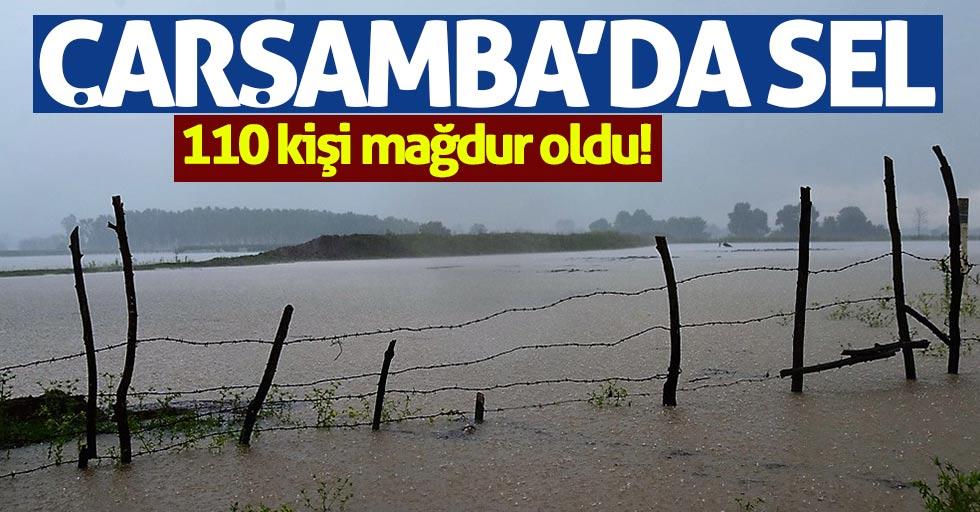 Çarşamba'da sel: 110 çiftçi mağdur
