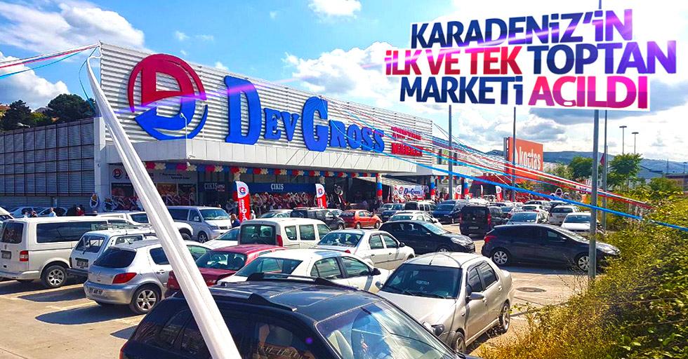 Karadeniz'in ilk ve tek toptan marketi açıldı