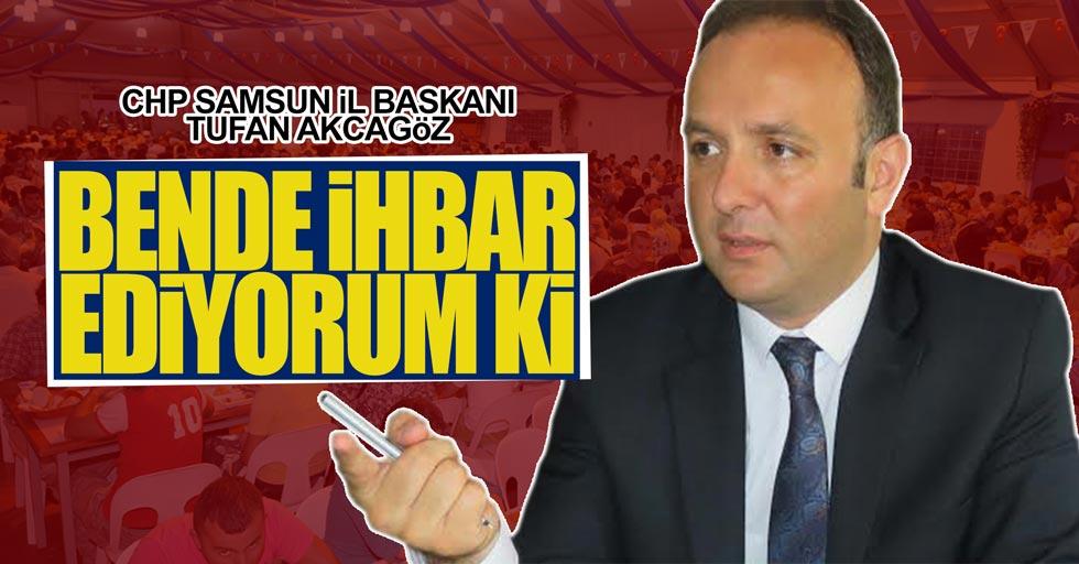 Samsun CHP İl Başkanı'ndan ramazanda yapılan programlara eleştiri geldi