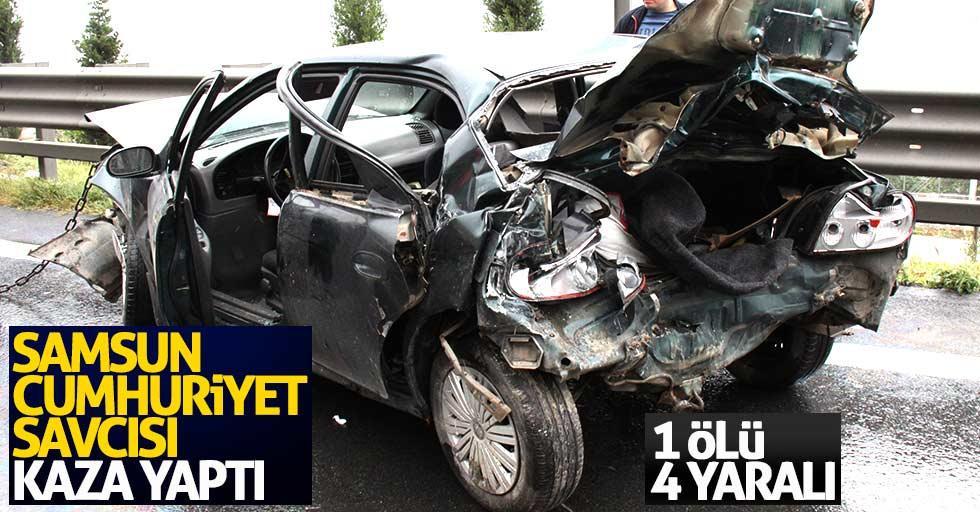 Samsun Cumhuriyet Savcısı Ali Evcimen kaza yaptı: 1 ölü