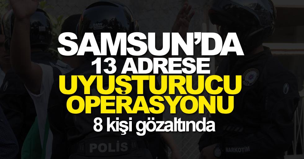 Samsun'da 13 adreste uyuşturucu operasyonu: 8 kişi gözaltında