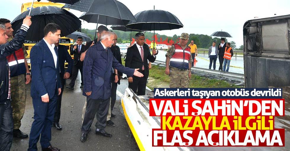 Samsun'da askerleri taşıyan otobüsün kazasıyla ilgili flaş açıklama