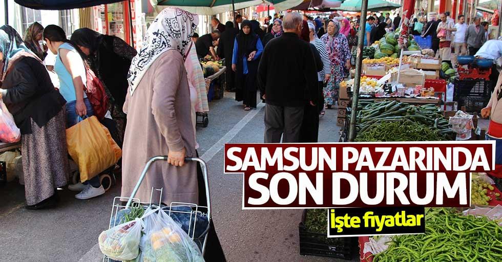 Samsun pazarında sebze ve meyve fiyatları