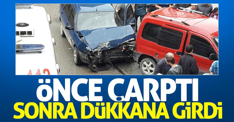 Samsun'un Bafra ilçesinde trafik kazası