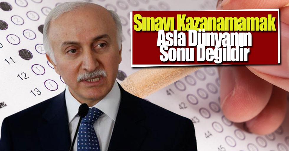 """Samsun Valisi Şahin: """"Sınavı kazanamamak asla dünyanın sonu değildir''"""