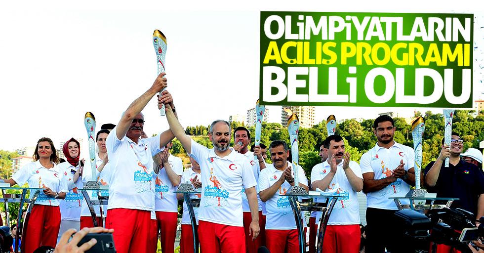 Olimpiyatların açılış programı belli oldu
