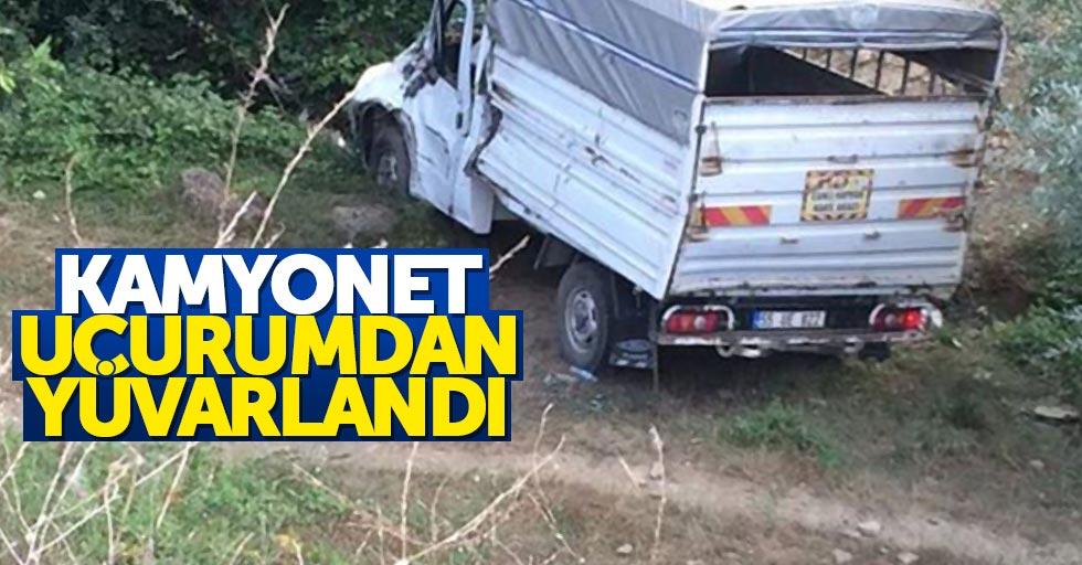 Samsun'da kamyonet 10 metre uçuruma yuvarlandı