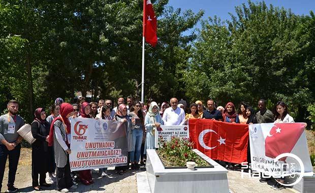 Samsun'da KYK öğrencilerinden anlamlı ziyaret