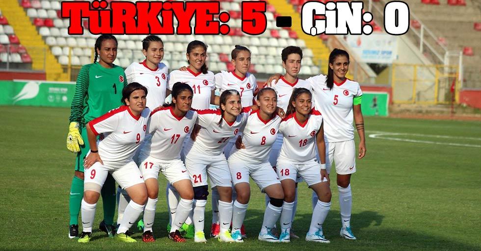 Türkiye: 5 - Çin: 0
