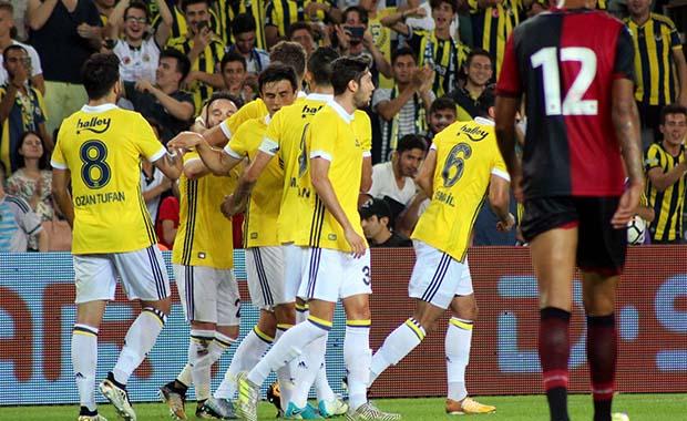 Fenerbahçe'nın hazırlık maçında yüzü güldü