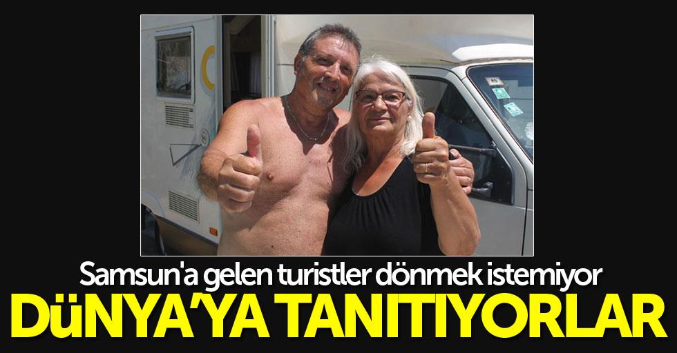 Samsun'a gelen turistler dönmek istemiyor