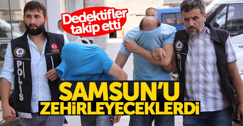 Samsun'a uyuşturucu sevkiyatına 4 gözaltı
