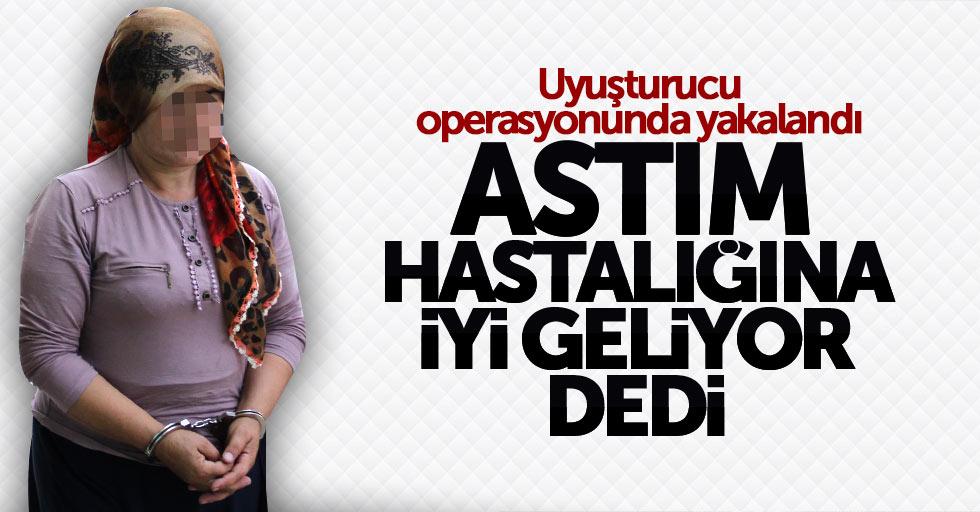 Samsun'da kadın astıma iyi geliyor diye uyuşturucu yetiştirmiş