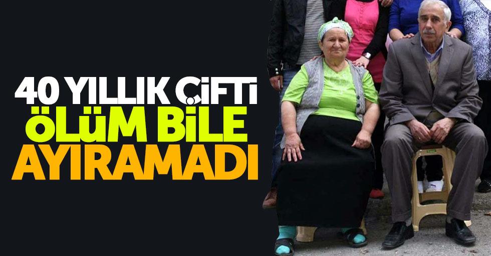 Samsun'da yaşlı çifti ölüm bile ayıramadı