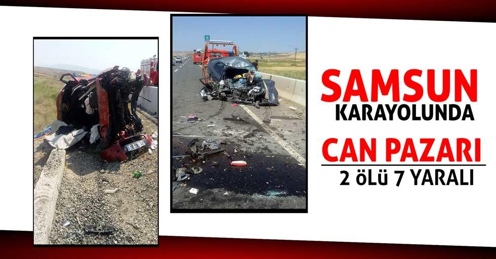 Samsun karayolunda trafik kazası