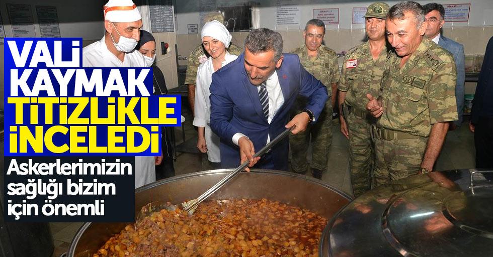 Samsun Valisi, askeriyenin yemekhanesini inceledi