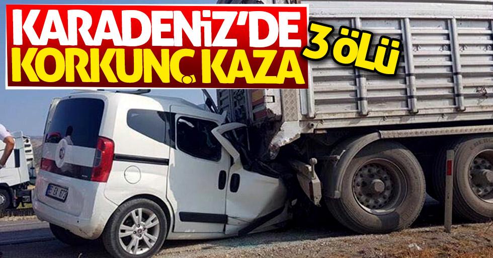 Karadeniz'de korkunç kaza: 3 ölü
