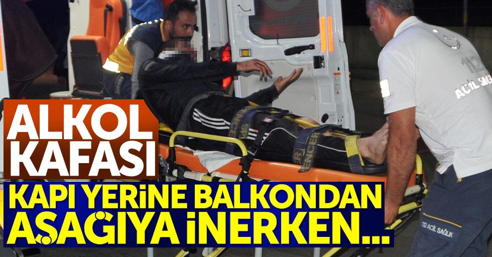 Samsun'da alkollü şahıs balkondan aşağı düştü