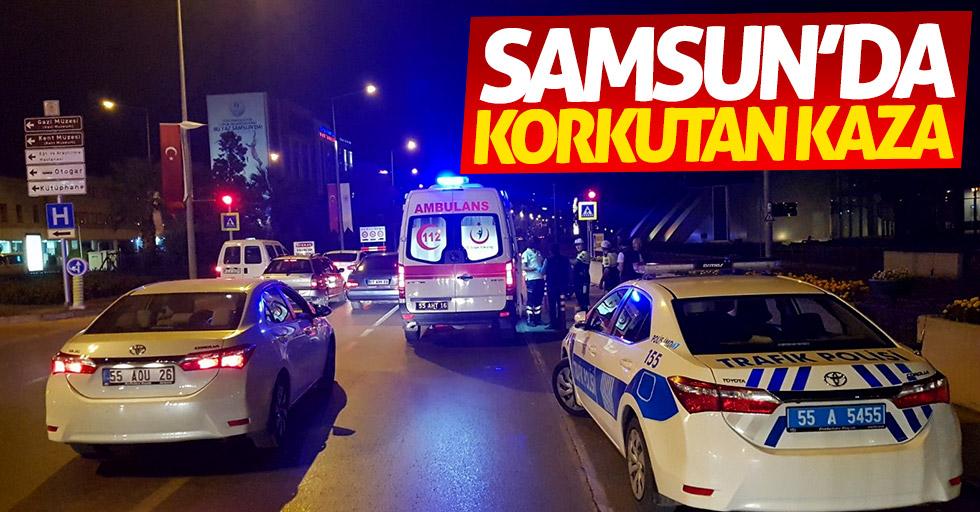 Samsun'da korkutan kaza