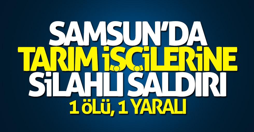 Samsun'da tarım işçilerine silahlı saldırı