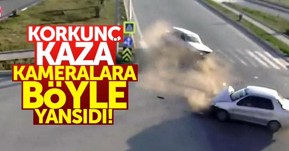 Samsun'da trafik kazaları saniye saniye kaydedildi