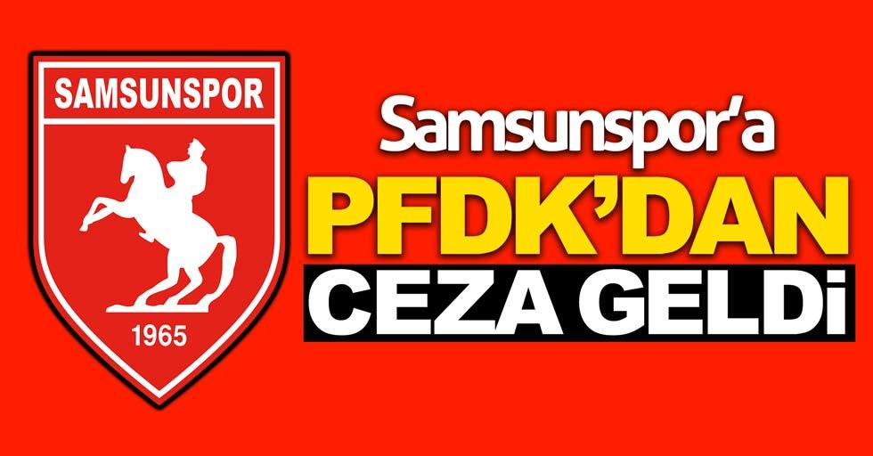 Samsunspor'a PFDK'dan ceza geldi