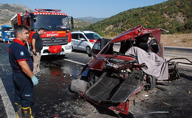 Tokat'ta kaza: 1 ölü, 7 yaralı