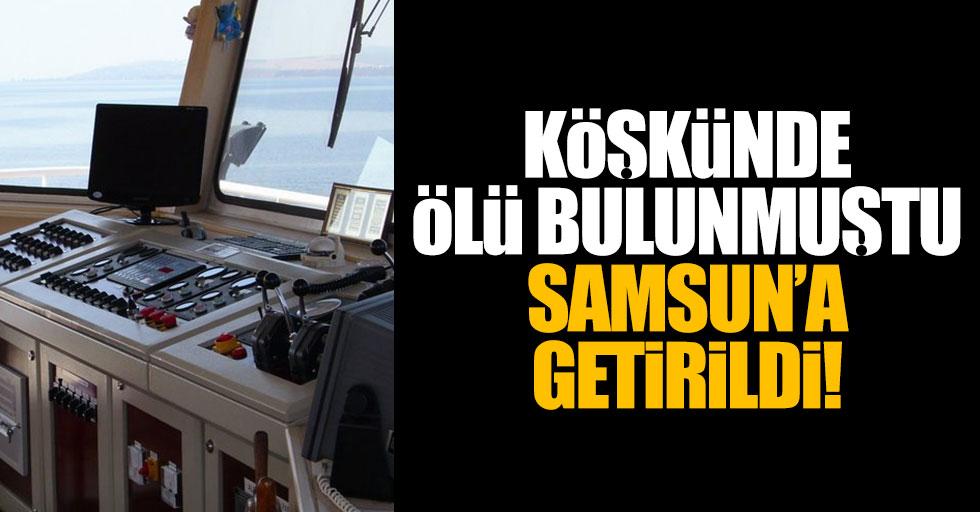 Gemide kaptanın şüpheli ölümü Samsun'da araştırılıyor