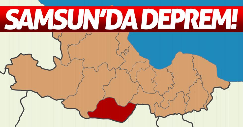 Samsun'da deprem meydana geldi