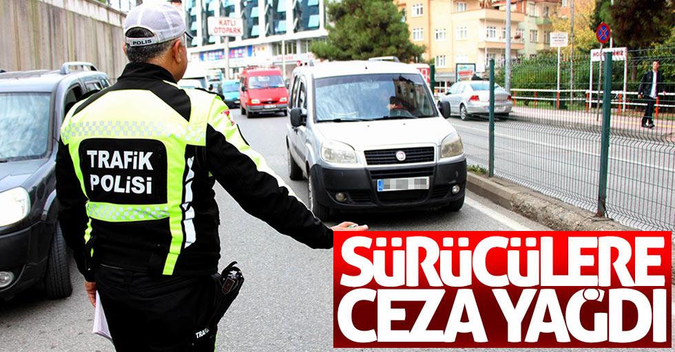 Samsun'da sürücülere ceza yağdı!
