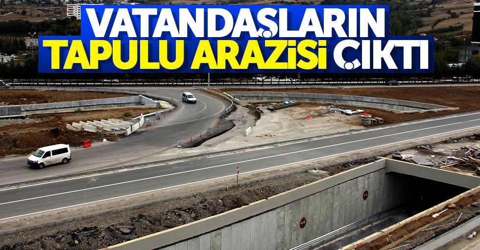 Samsun'da yolun yapılacağı yer tapulu arazi çıktı