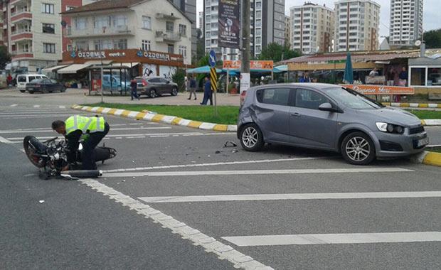 Samsun-Ordu karayolunda kaza: 1 yaralı