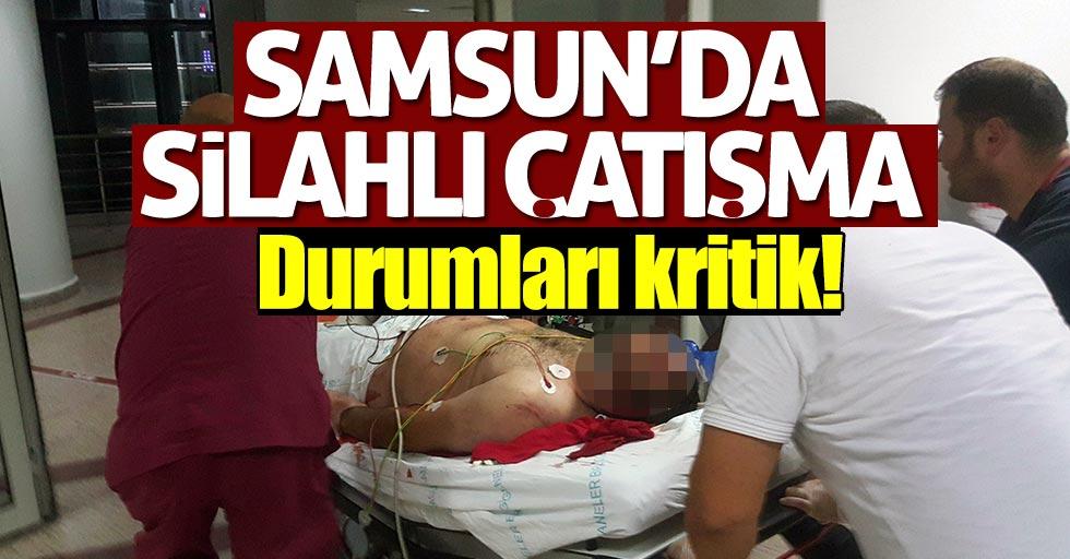 Samsun'da iki grup arasında silahlı çatışma!