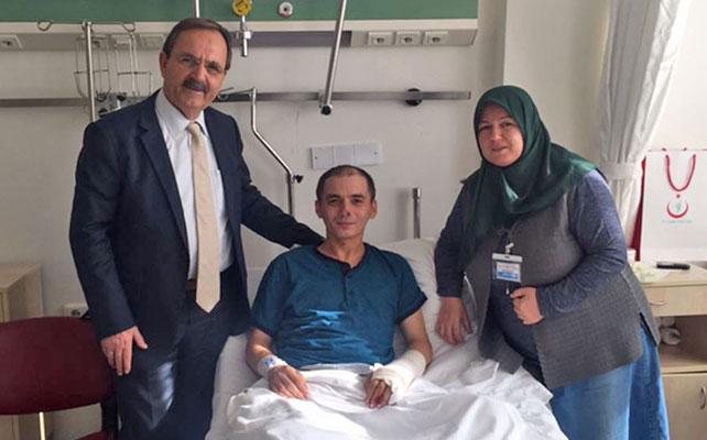 Başkan Şahin'den Samsunlu askere ziyaret