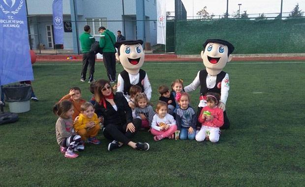 Samsun'da minik öğrenciler sporla tanıştırıldı